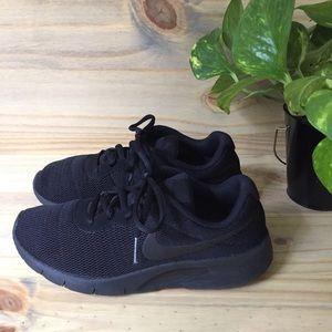 Nike | Black on black running shoes size 5.5Y